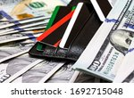 credit cards and dollars in...   Shutterstock . vector #1692715048