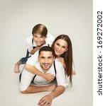 beautiful happy couple    Shutterstock . vector #169272002