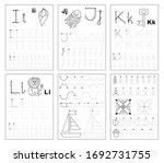 set of black and white... | Shutterstock .eps vector #1692731755