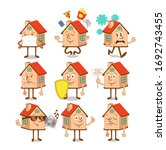 set  collection of cute happy...   Shutterstock .eps vector #1692743455