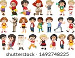 large set of children doing... | Shutterstock .eps vector #1692748225