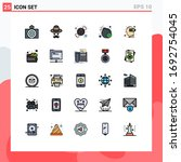 editable vector line pack of 25 ... | Shutterstock .eps vector #1692754045
