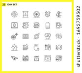 mobile interface line set of 25 ...   Shutterstock .eps vector #1692759502