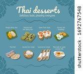 thai desserts food vector set.  ...   Shutterstock .eps vector #1692767548