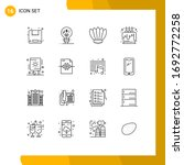 mobile interface outline set of ... | Shutterstock .eps vector #1692772258