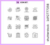 modern set of 16 outlines and... | Shutterstock .eps vector #1692777358