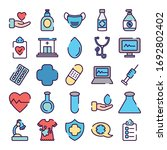 chemical flasks and healthcare... | Shutterstock .eps vector #1692802402