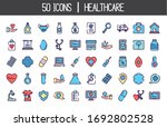 medical and healthcare icon set ... | Shutterstock .eps vector #1692802528