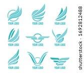 vector wings logo set. winged... | Shutterstock .eps vector #1692812488