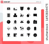 25 thematic vector solid glyphs ...