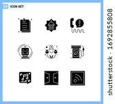 pack of 9 modern solid glyphs...
