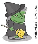 witch | Shutterstock .eps vector #16928653