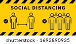 social distancing icon. keep... | Shutterstock .eps vector #1692890935