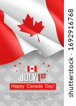 happy canada day 1st of july... | Shutterstock .eps vector #1692916768