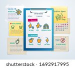 symptoms and characteristics of ... | Shutterstock .eps vector #1692917995