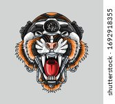 tiger robotic head for any... | Shutterstock .eps vector #1692918355