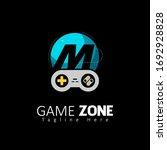 game zone letter m logo design...