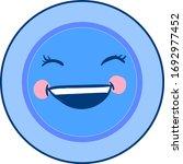 blue happy dish  illustration ... | Shutterstock .eps vector #1692977452