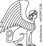 sphinx  line art style vector... | Shutterstock .eps vector #1692997138