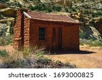 Elijah Cutler Behunin Cabin a Frontier Settler Cabin in Capitol Reef National Park listed on the National Register of Historic Places