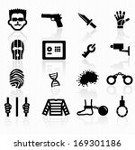 crime icons | Shutterstock .eps vector #169301186