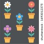 home flower in a pot vector... | Shutterstock .eps vector #1693012375