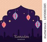 islamic holy month of ramadan... | Shutterstock .eps vector #1693083385
