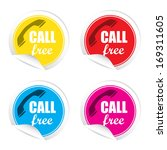 free call text on colorful... | Shutterstock . vector #169311605