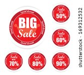 big sale text and percent tag ... | Shutterstock . vector #169312532
