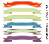 a set of ribbons. | Shutterstock .eps vector #169314755
