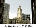 long range photo of chicago  s... | Shutterstock . vector #16931578