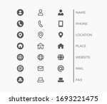 business card icon set. vector...   Shutterstock .eps vector #1693221475