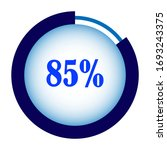 blue percentage diagram for...