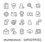 linear approve icons. check... | Shutterstock .eps vector #1693259332