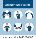 alternative ways of greeting ... | Shutterstock .eps vector #1693290688