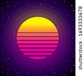 80s retro moon and stars...   Shutterstock .eps vector #1693333678