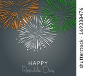 happy indian republic day... | Shutterstock .eps vector #169338476
