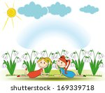 small and smile girls in spring ...   Shutterstock . vector #169339718