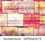 aged rustic colorful wall or... | Shutterstock . vector #1693464175