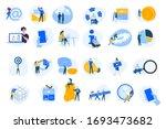flat design concept icons... | Shutterstock .eps vector #1693473682