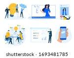 flat design concept icons...   Shutterstock .eps vector #1693481785