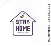 stay home  save your life... | Shutterstock .eps vector #1693517125