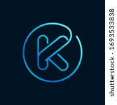 k letter logo in a circle....   Shutterstock .eps vector #1693533838