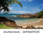 Small Beach In Ubatuba  In Th...