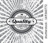 vector grungy label background. | Shutterstock .eps vector #169360772