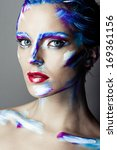 creative art makeup of a young... | Shutterstock . vector #169361156