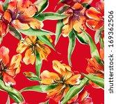 tulips seamless pattern | Shutterstock . vector #169362506