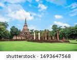 wat chang lom  temple... | Shutterstock . vector #1693647568