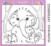 dot to dot drawing worksheets....   Shutterstock .eps vector #1693688422