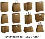 blank shopping bags | Shutterstock .eps vector #16937254